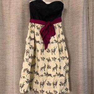 Anthropologie Deer Dress 4 Removable Straps